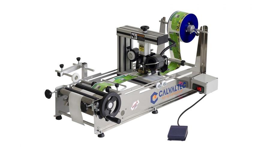 Rotuladora Semimanual RSMD 500 com Datador Pneumático - Calvaltec Rotuladoras