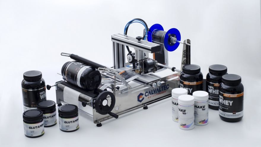 Rotuladora Manual RSMD 800 com Datador Pneumático - Calvaltec Rotuladoras