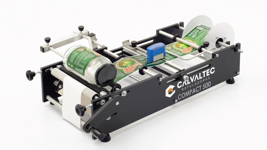 Rotuladora Manual com Carimbo Compact 500 - Calvaltec Rotuladoras